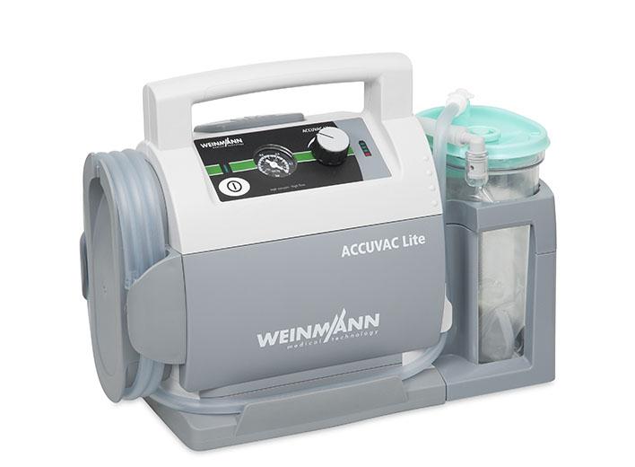 ACCUVAC Lite mit Einwegbehältersystem, elektrisches Absauggerät