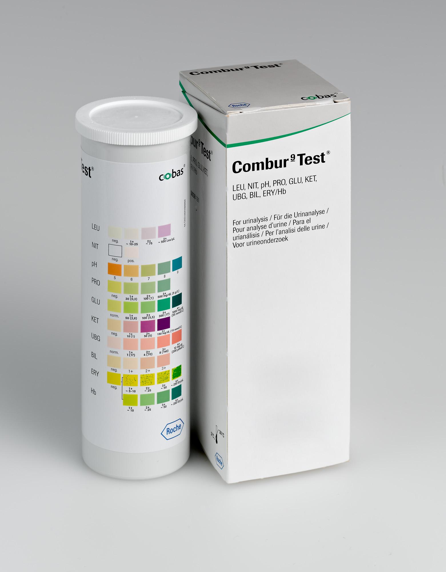 Roche Combur 9 Test Urinteststreifen - Packung mit 50 Stück