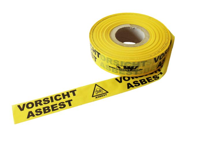 Warnklebeband / Asbest, Polypropylen, selbstkl.