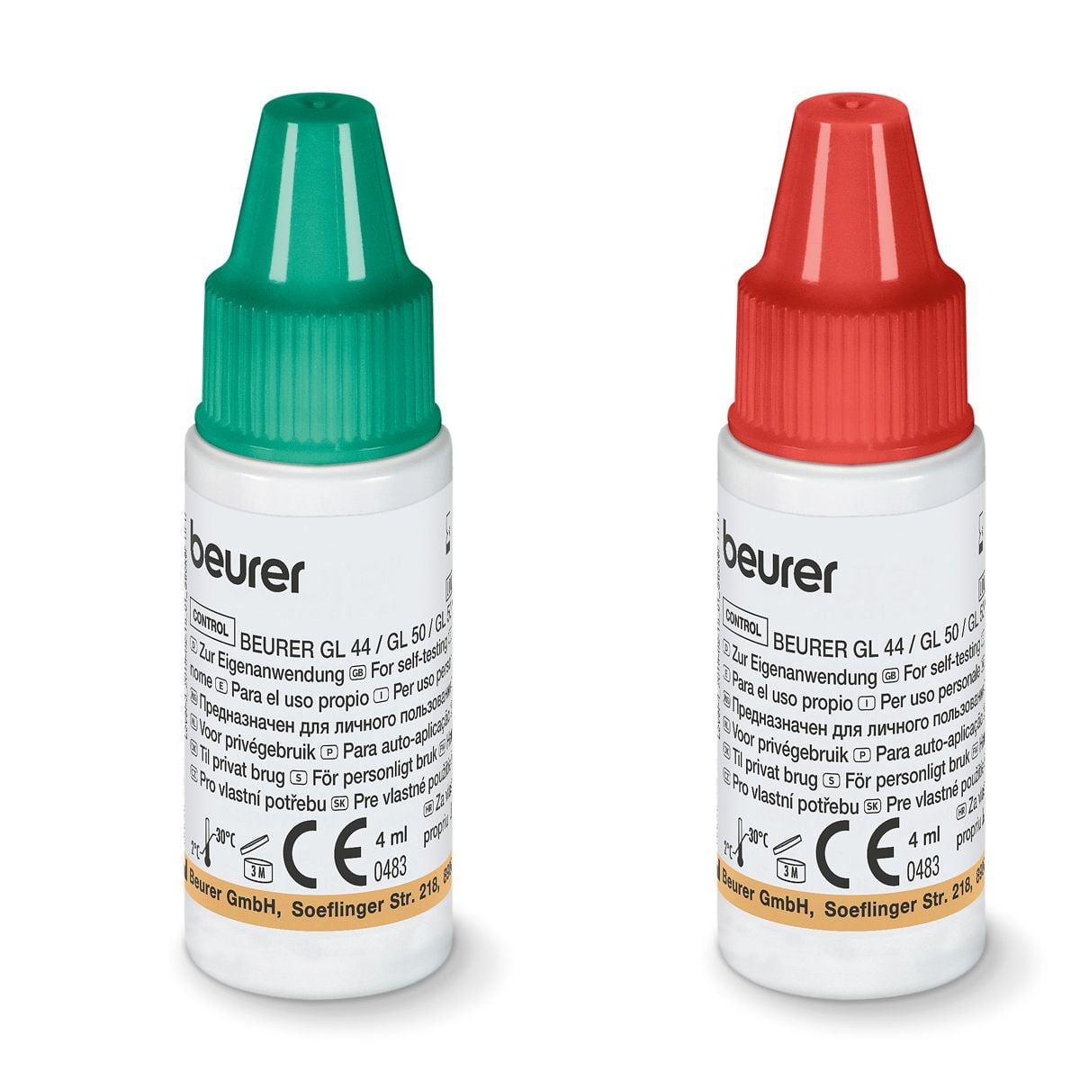 Blutzucker-Kontrolllösung für Beurer BZ Geräte, GL 44/50/55 evo LEVEL 3+4