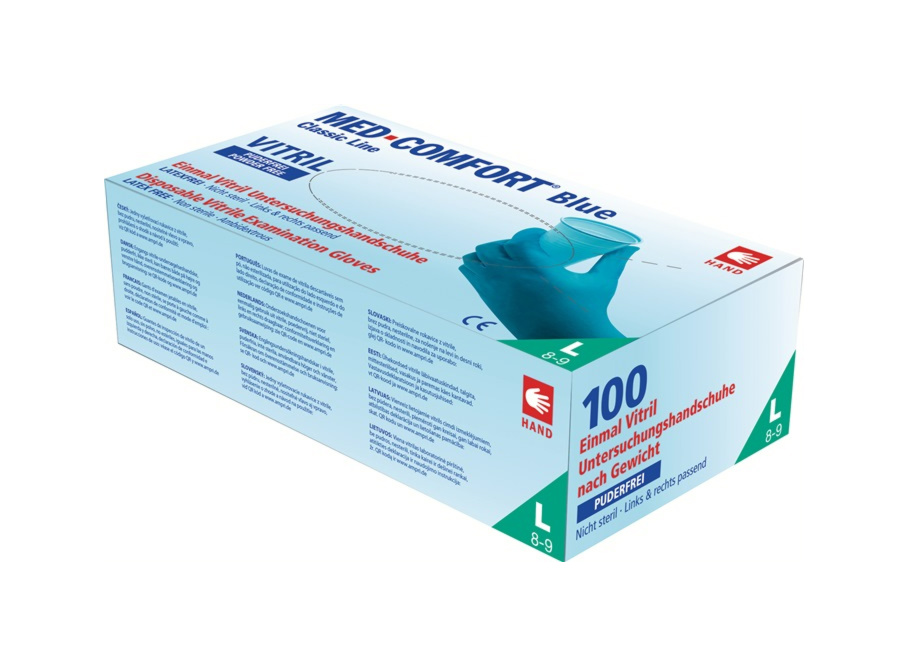 Med-Comfort Vitril® Untersuchungshandschuhe, Packung á 100 Stk.