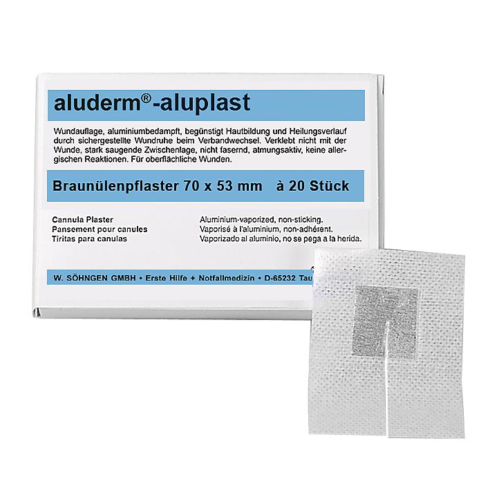 aluderm®-aluplast 20 Stück Braunülenpflaster 80x60 mm