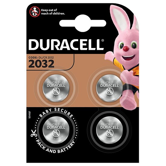 Duracell Lithium Knopfzelle CR2032, 3 Volt