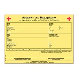 Ausweis- und Bezugskarte DIN A6, Packung à 100 Stück