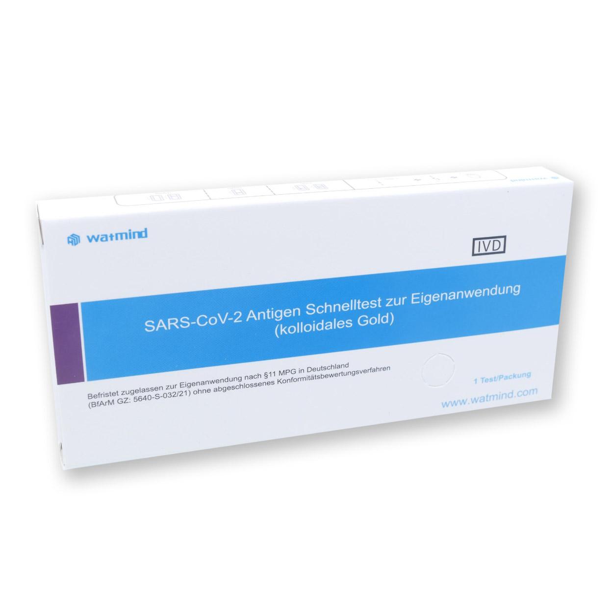 Watmind Lollypop-Test für Laien (Colloidal Gold) - Corona Antigen-Schnelltest - Einzeln verpackt