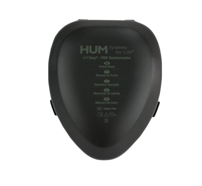 AERObag® Taschenmaske mit Einwegventil, in Etui, schwarz