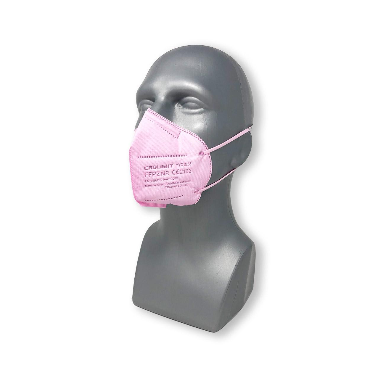 FFP2 Atemschutzmaske YYC1028 in pink, Packung à 25 Stück
