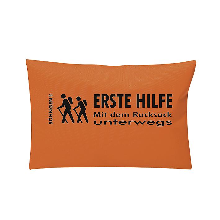 Erste Hilfe Mit dem Rucksack unterwegs orange