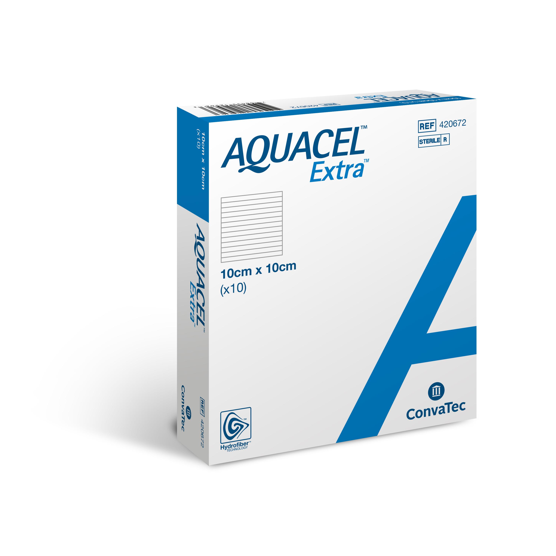 AQUACEL® Extra Wundauflage 10 x 10 cm - Packung mit 10 Stück