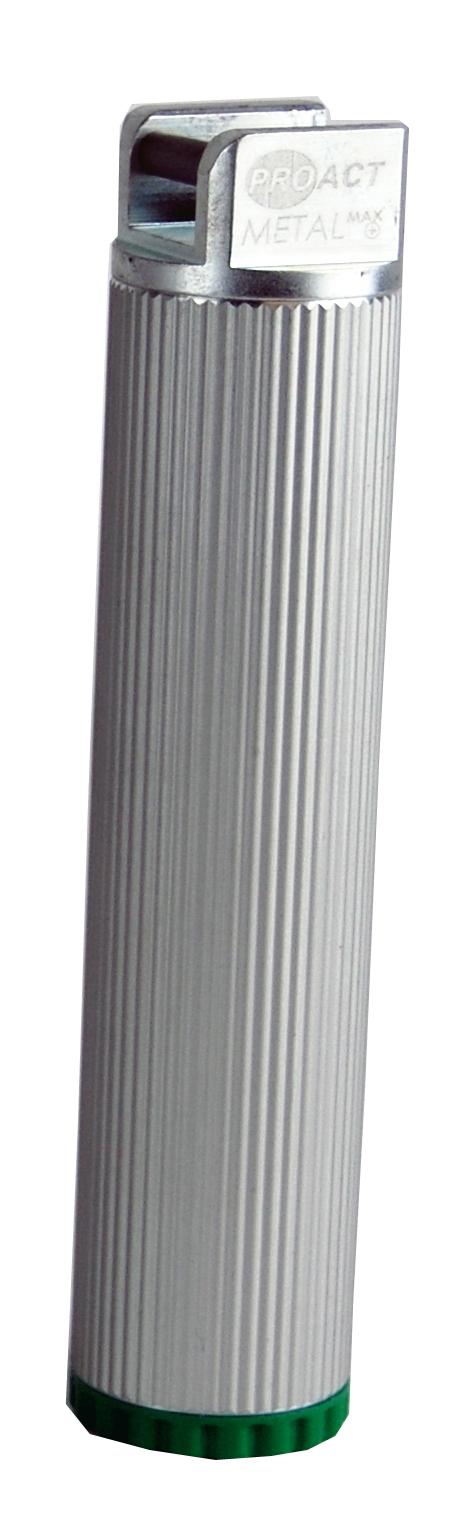Laryngoskop-Handgriff Metal Max+, mit Batterien, grün