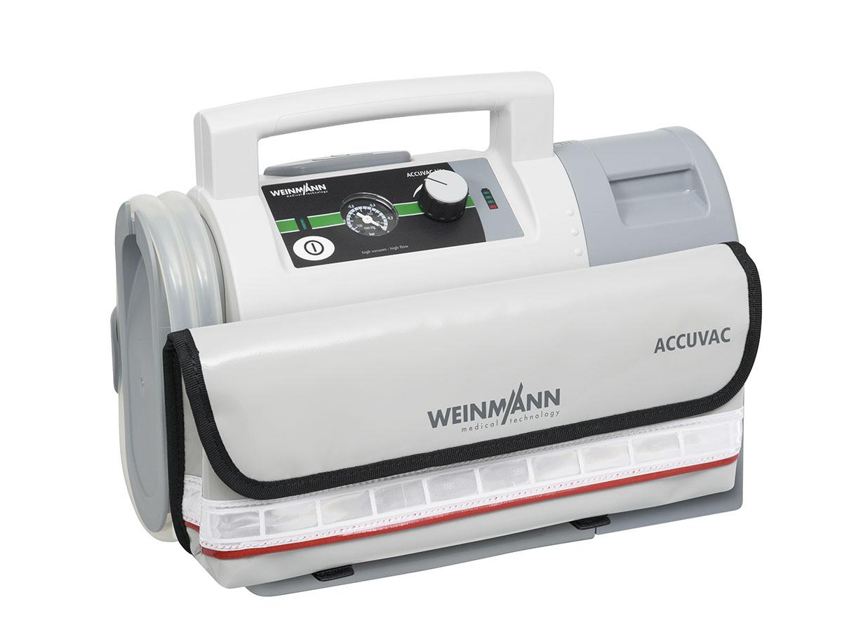 ACCUVAC Lite mit Mehrwegbehältersystem und Zubehörtasche, elektrisches Absauggerät