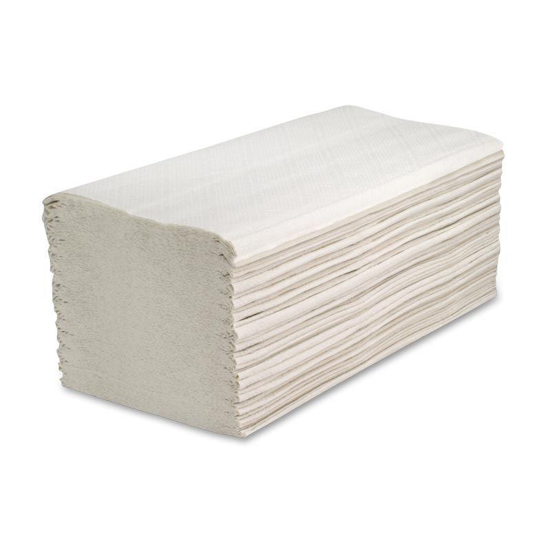 Falthandtücher 23,5 x 23 cm, 2- lagig - 1 Karton = 20 x 160 = 3.200 Stück, hochweiß