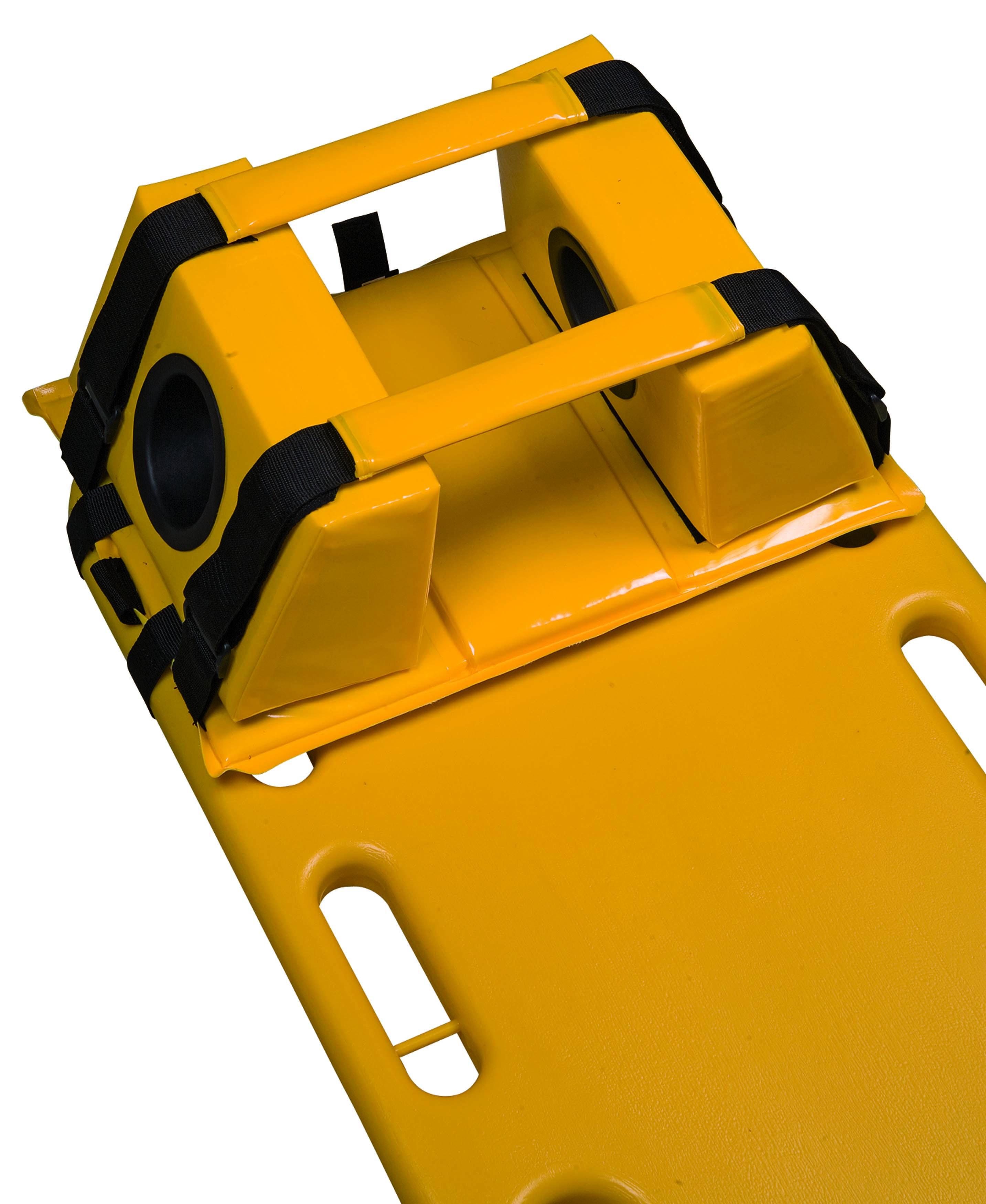 ultraHEAD-LOCK I Kopf-Fixierset für Spineboards in schwarz/gelb