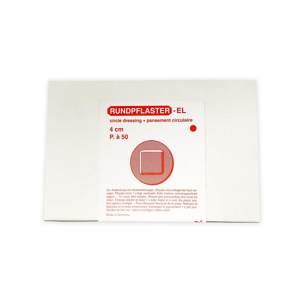 Wundschnellverband Rundpflaster 4 cm - Packung à 50 Stück