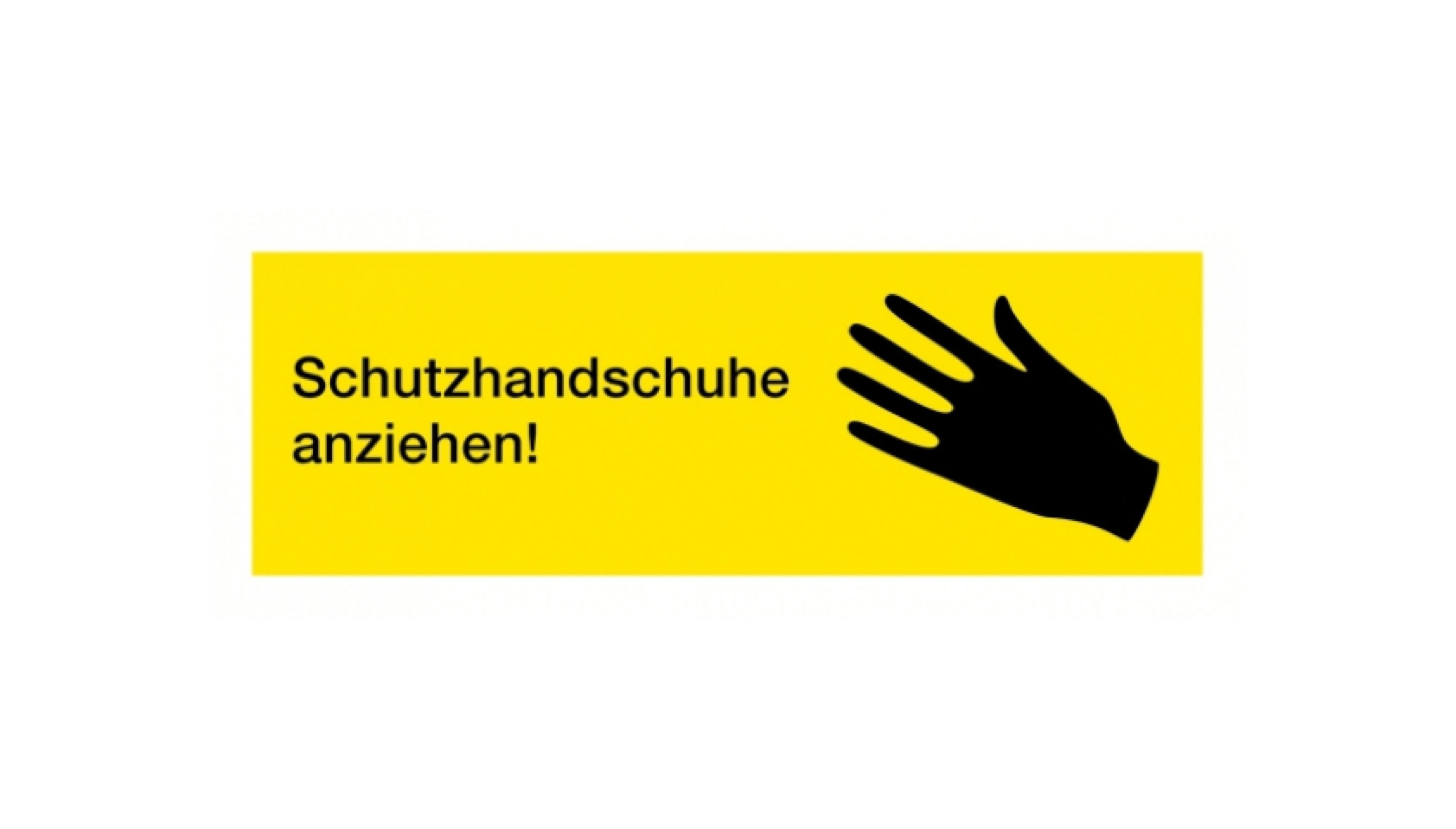 Normsymbol: Schutzhandschuhe anziehen 109 x 37 mm