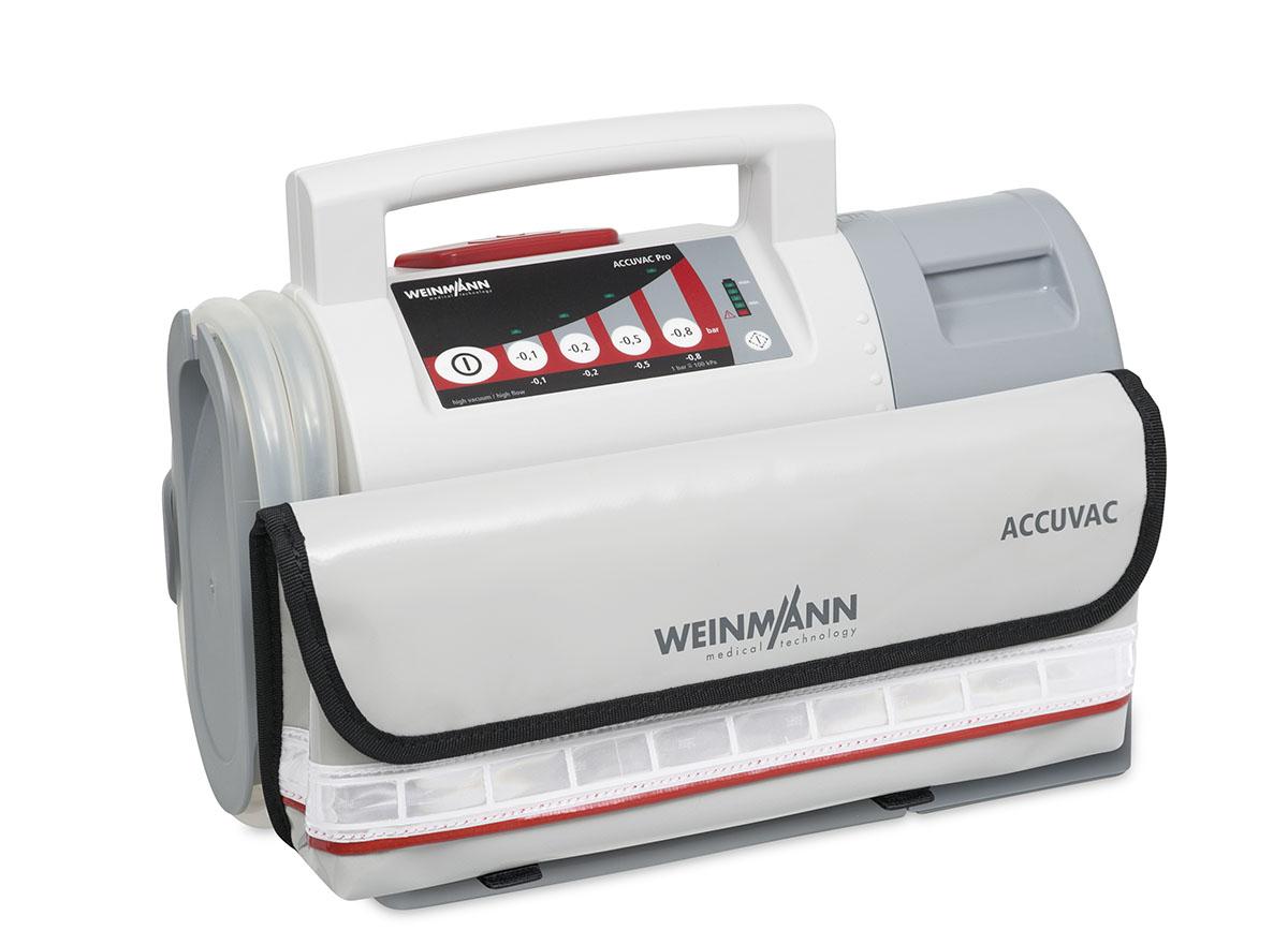 ACCUVAC Pro mit Mehrwegbehältersystemsystem und Zubehörtasche, elektrisches Absauggerät