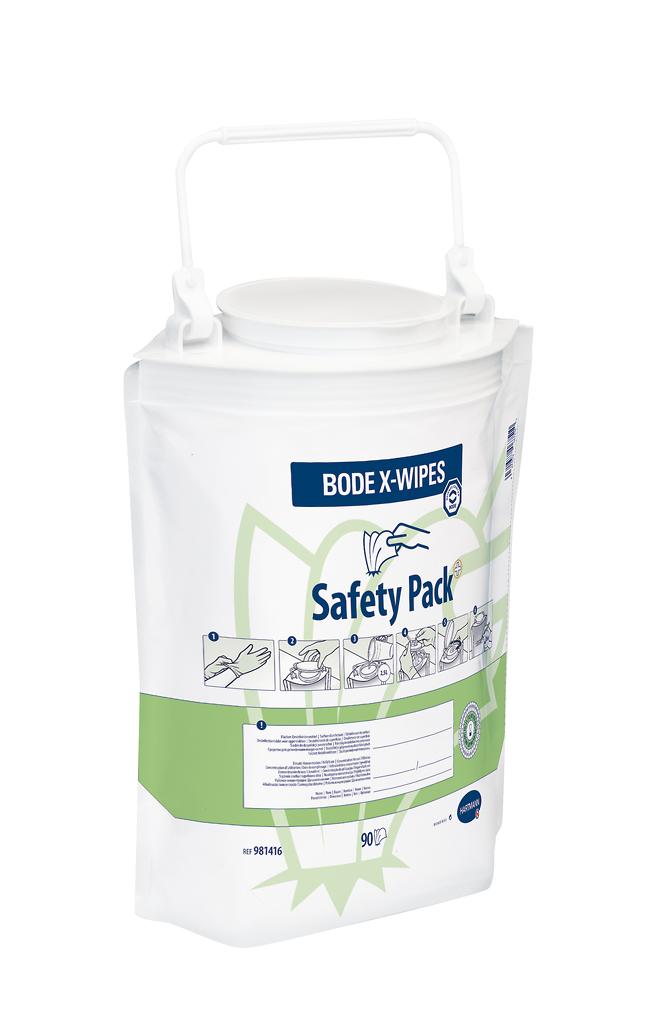 BODE X-Wipes Safety Pack, 90 Tücher im Standbodenbeutel