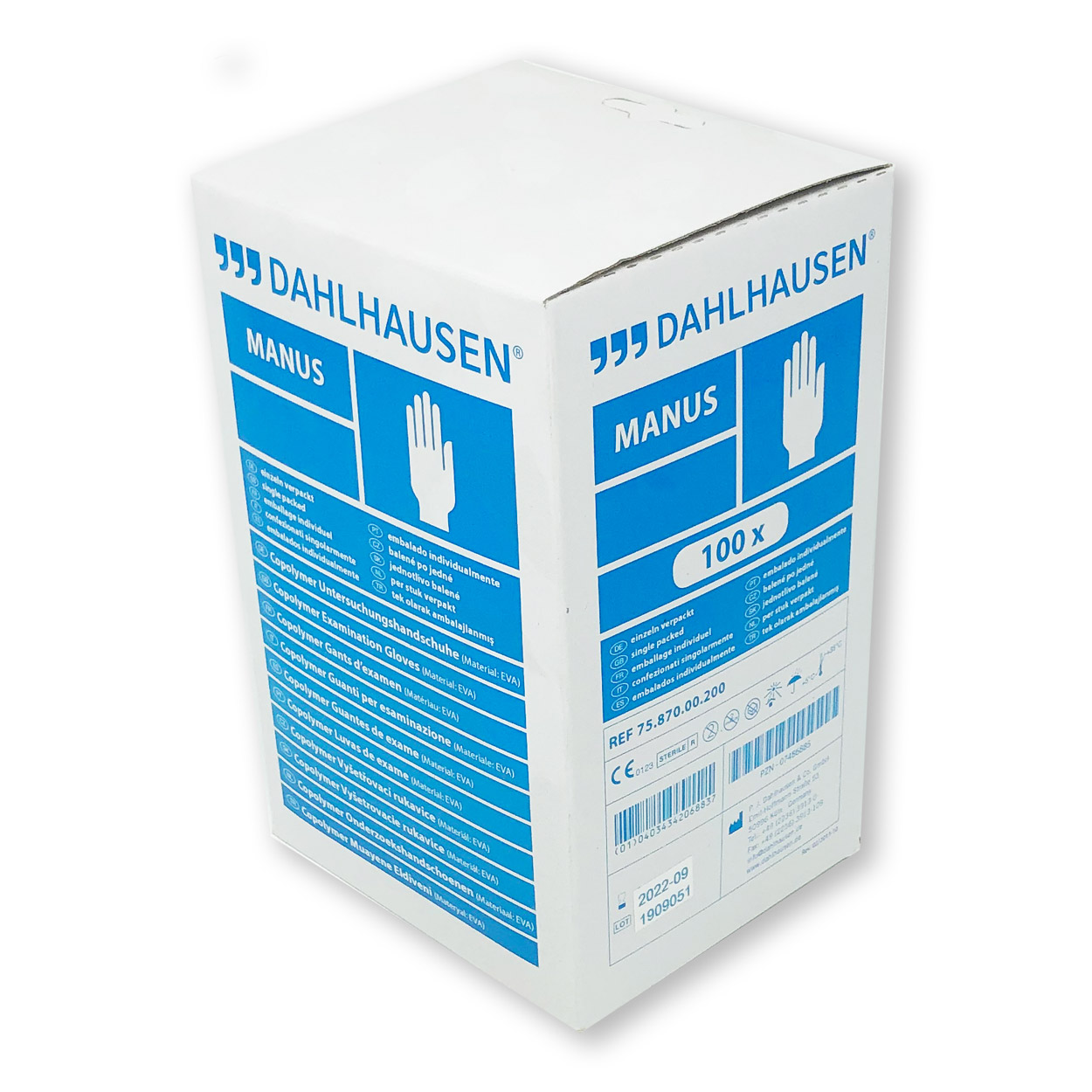 Copolymer Untersuchungshandschuh, Packung à 100 Stk.