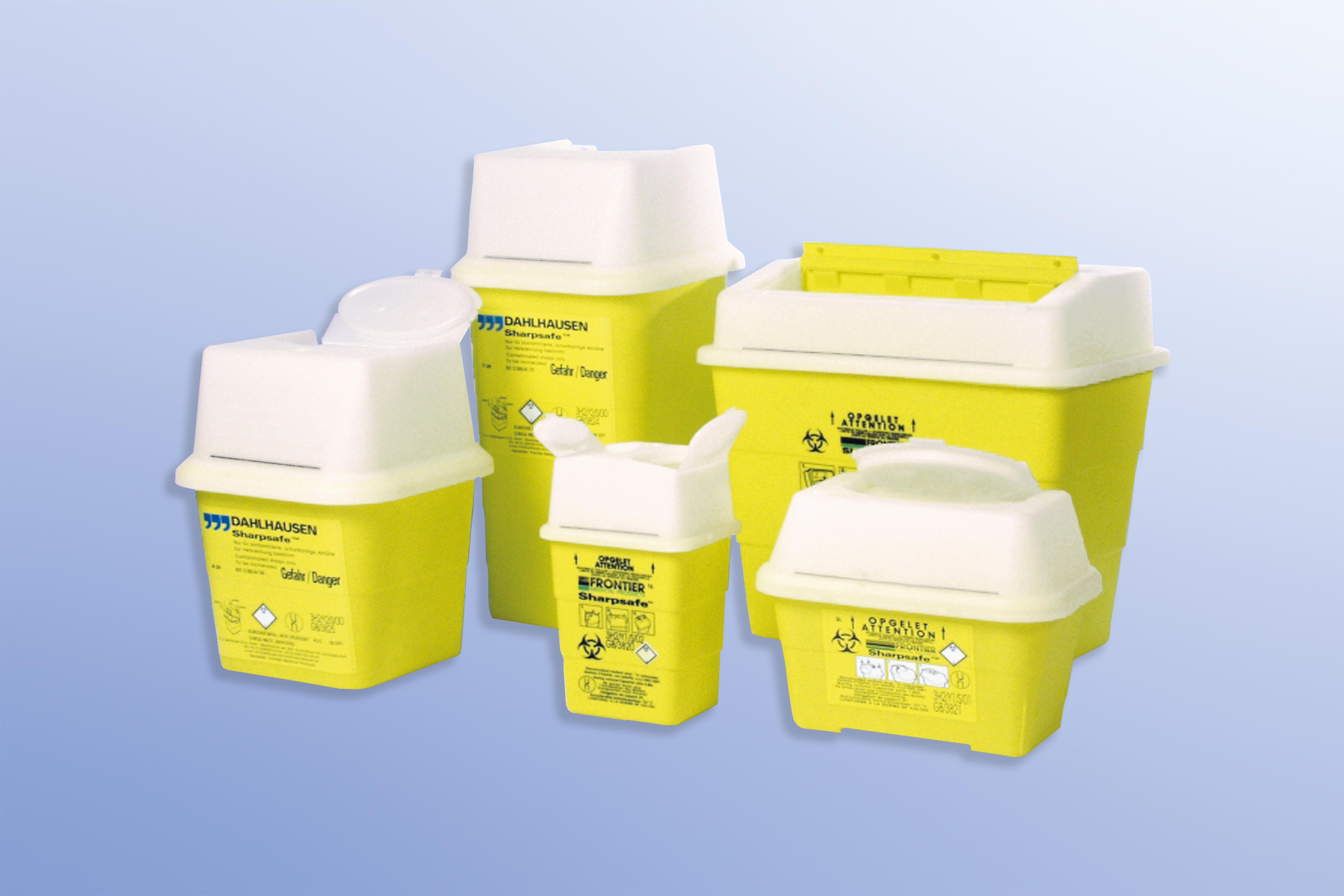 Abwurfbehälter Sharpsafe, 2,0 Liter, Maße: 177 x 197 x 126 mm