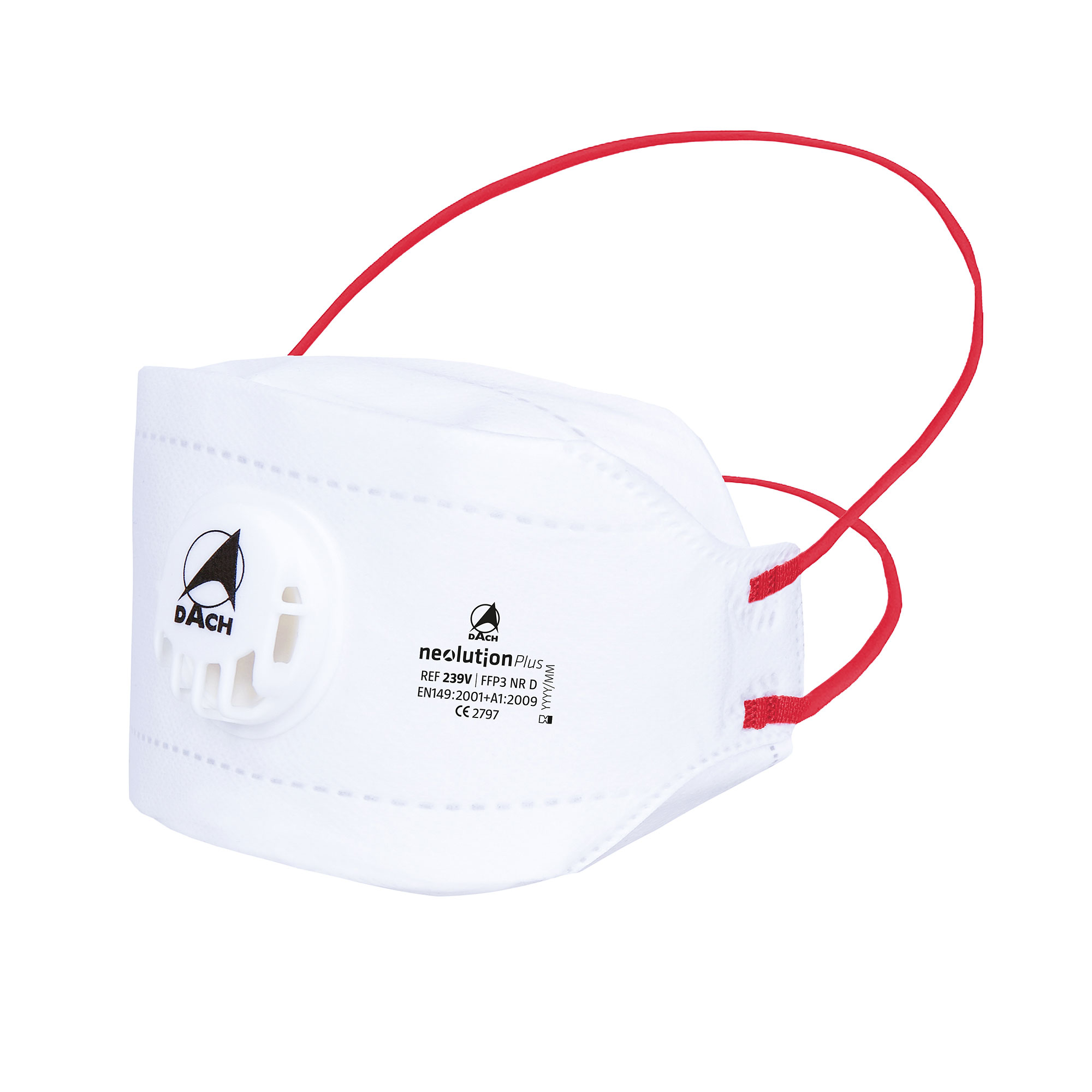 FFP3 Maske NeolutionPlus mit Ventil NR D EN149:2001+ A1:2009