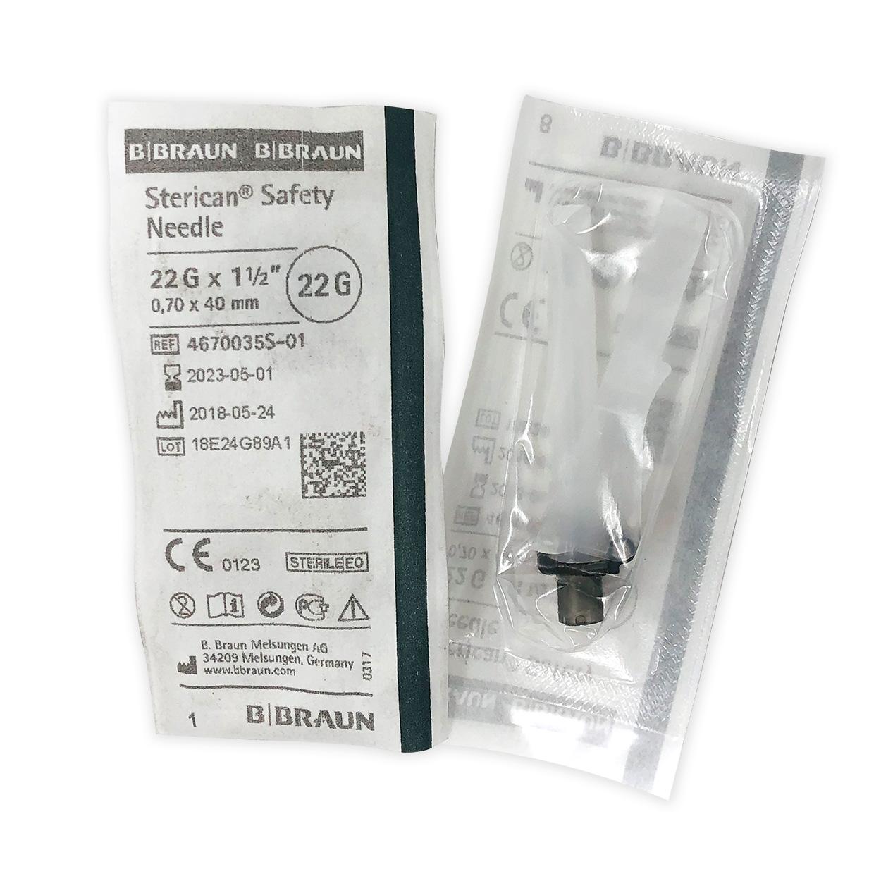 "Sicherheitskanülen Sol-Care 21 G 1 1/2"" | 0,7 x 40 mm grau - Packung à 100 Stück"