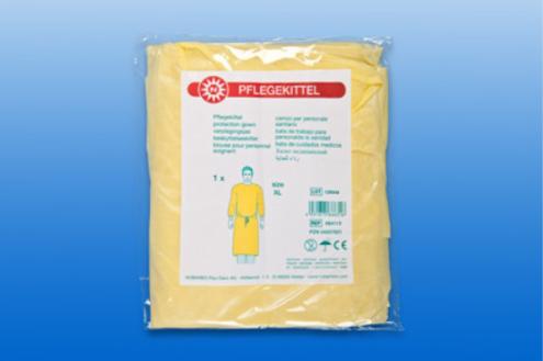 Pflegekittel Größe XXL in gelb, 1 Stück