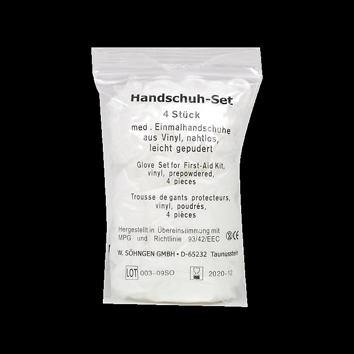 Handschuh-Set mit 4 Stück Vinyl groß