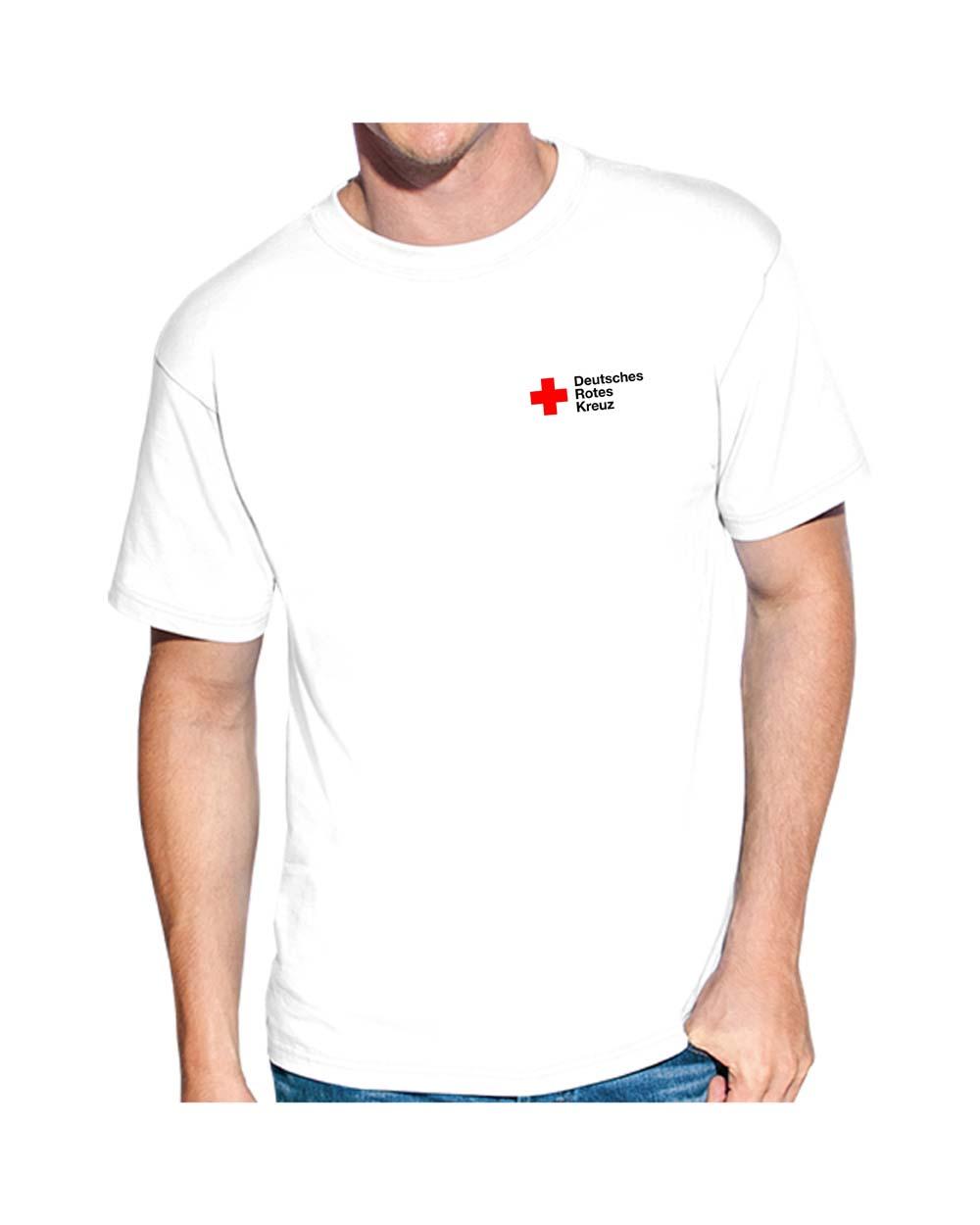 T-Shirt weiß mit Stick DRK Kompaktlogo