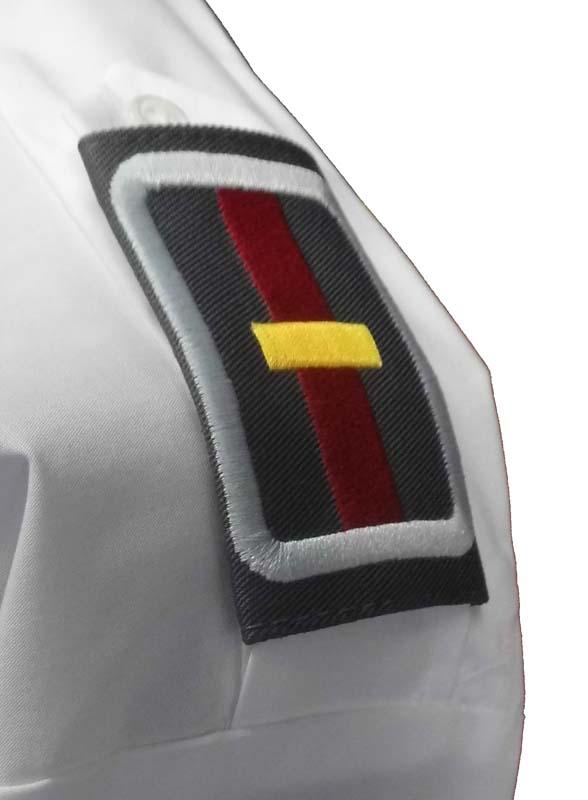 DRK Hemd 1/1 mit Schulterklappen in weiß