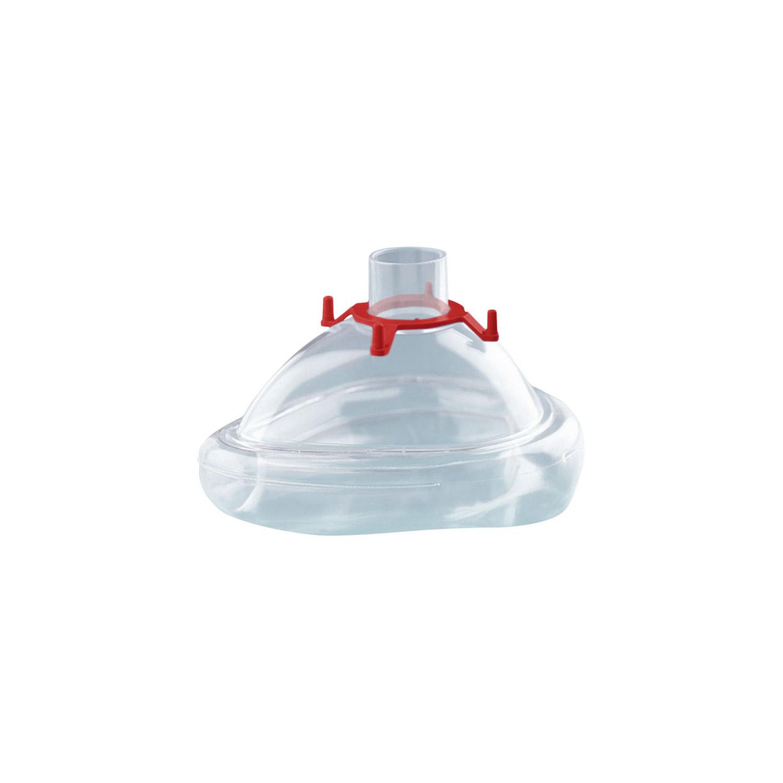 CPAP-/NIV-Einmalmaske mit Luftkissen, Größe M (Erwachsener), mit Haltering für Kopfbänderung