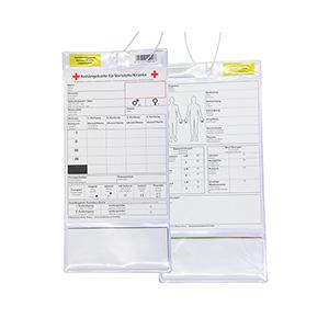 Anhängekarte für Verletzte/Kranke, Packung à 10 Stück