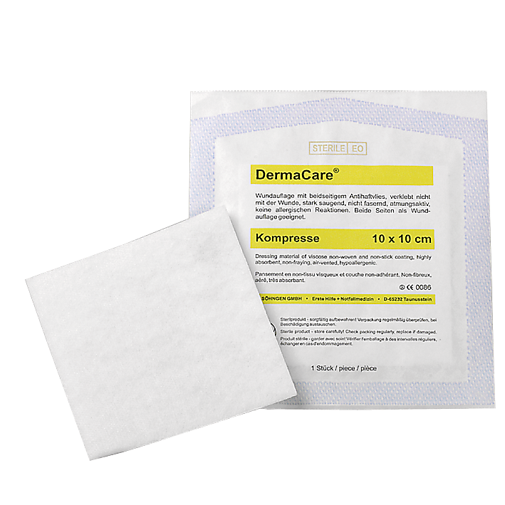 DermaCare® Kompressen 10 x10 cm - Packung à 50 Stück in Steriltüte