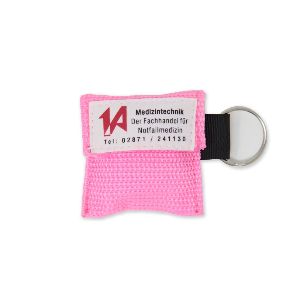 Beatmungstuch im Schlüsselanhänger in pink - 1A-Logo