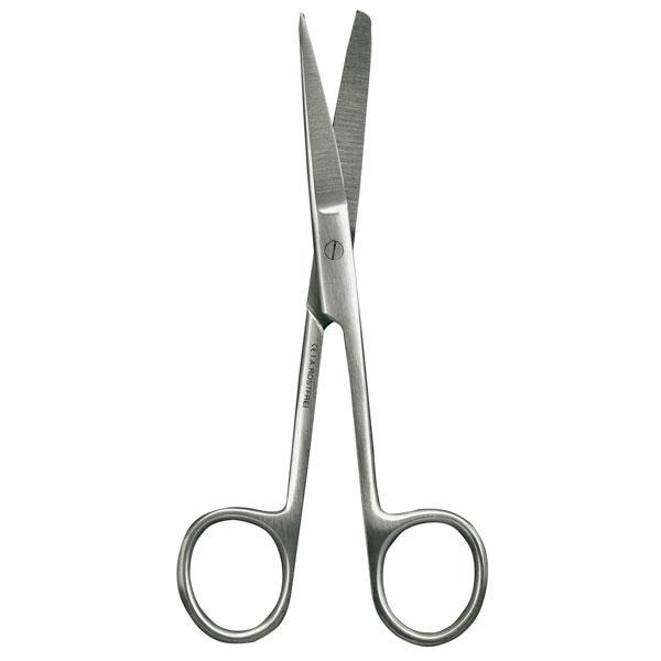 Chirurgische Schere 13 cm | Gerade, spitz - stumpf