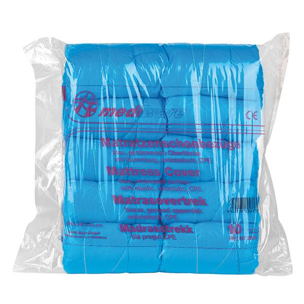 Matratzenschutzbezüge in blau, Packung à 10 Stück