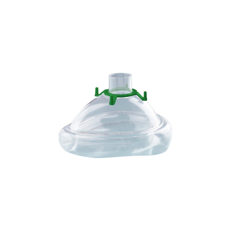 CPAP-/NIV-Einmalmaske mit Luftkissen, Größe S (Kind), mit Haltering fürKopfbänderung, 25er-Set