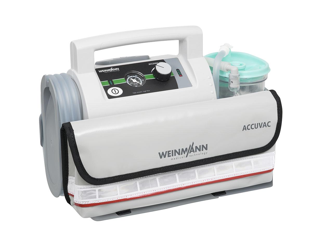 ACCUVAC Lite mit Einwegbehältersystem und Zubehörtasche, elektrisches Absauggerät