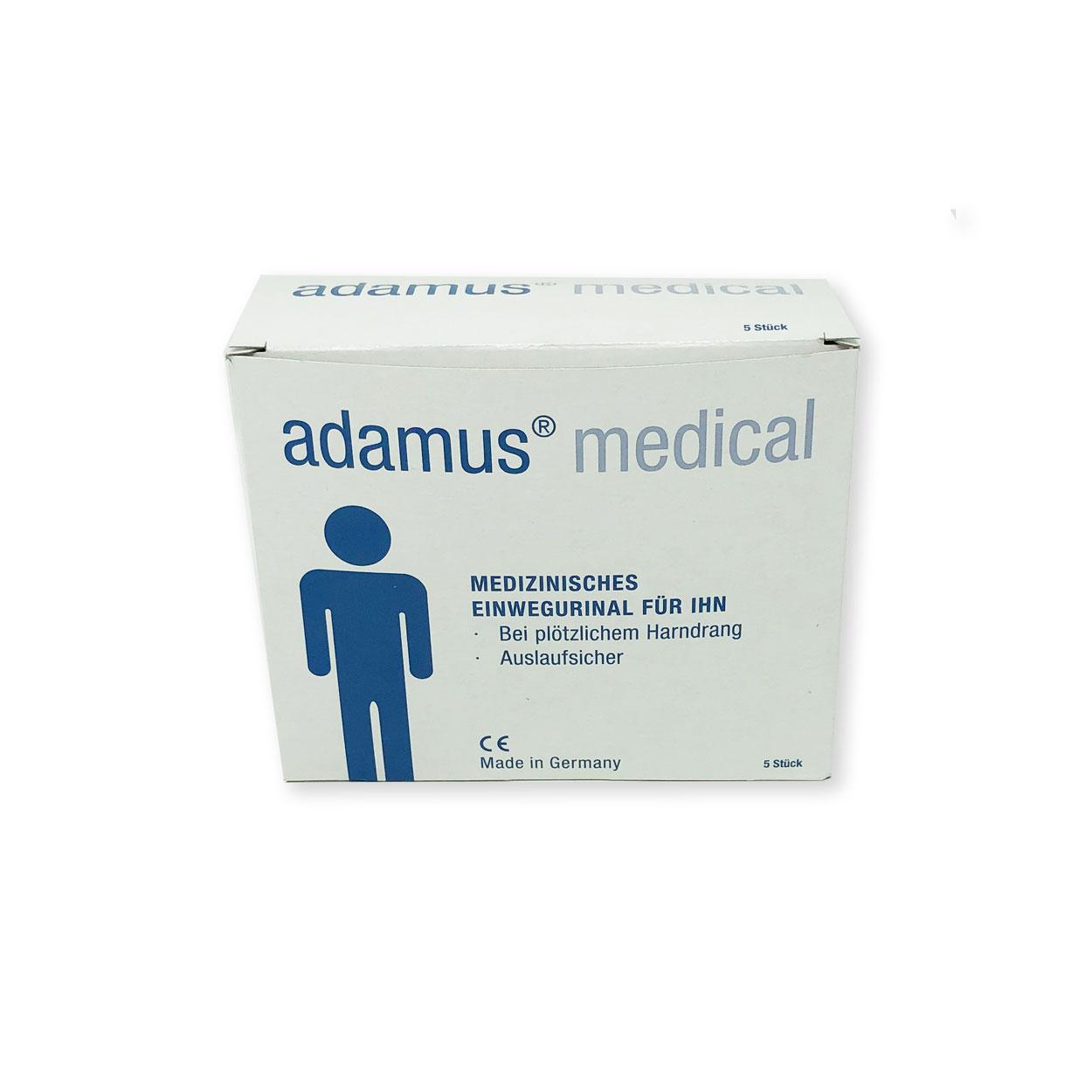 Adamus Taschen-Örtchen Männer, 750ml, 5er Pack