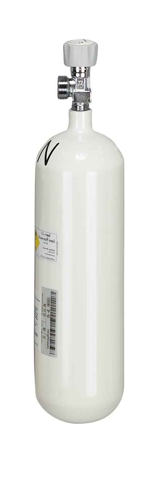 Sauerstoff-Flasche 2,0 Liter, leer, G 3/4, max. Fülldruck 200 bar