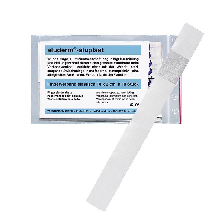 aluderm®-aluplast elastisch Fingerverband 18x2cm  10 Stück