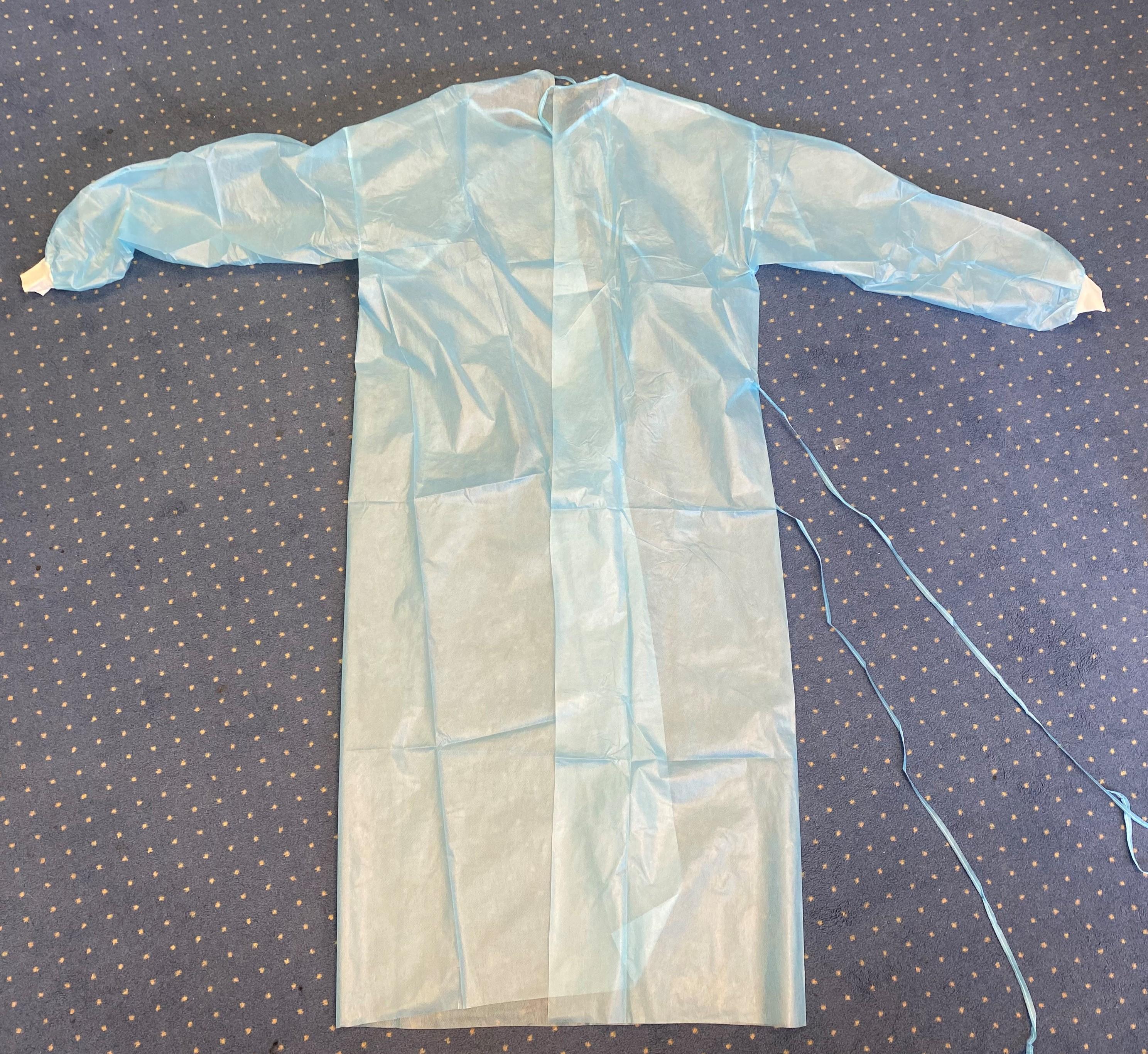 Infektionsschutzkittel 139 x 139 cm in blau