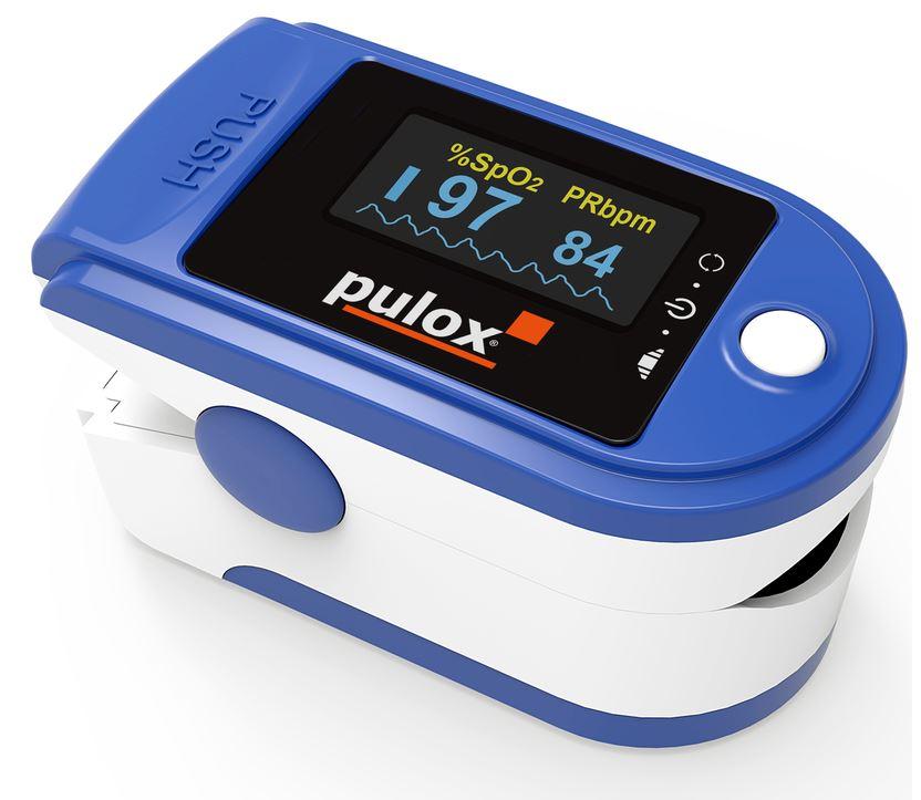 Fingerpulsoximeter PO-200-solo in dunkelblau