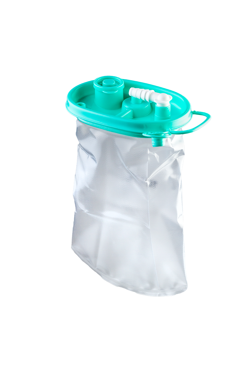 Serres-Absaugbeutel 1000 ml, Winkelanschluss