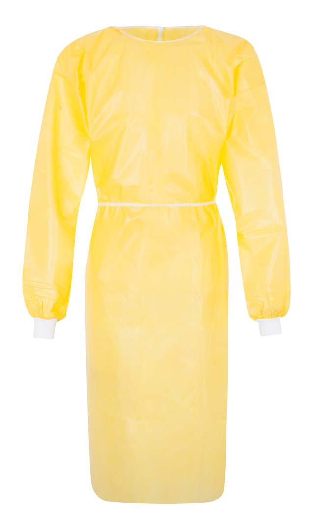 Schutzkittel, 130 cm lang, gelb, Einheitsgröße