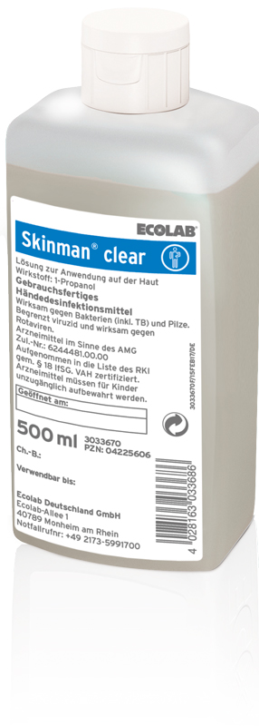 Skinman® clear Händedesinfektion 500 ml