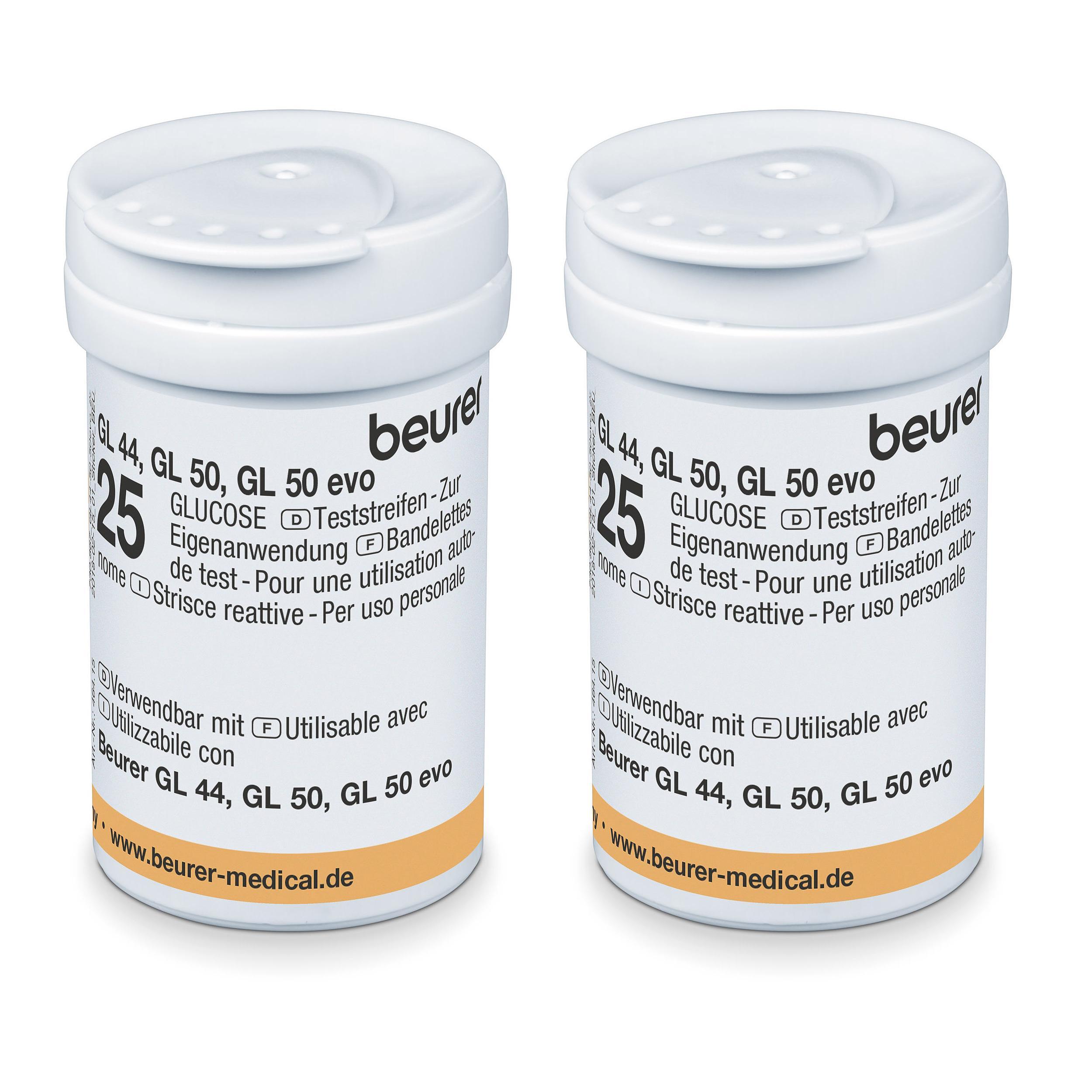 Blutzucker-Teststreifen GL 44/50/50 evo - 2 Dosen á 25 Stück