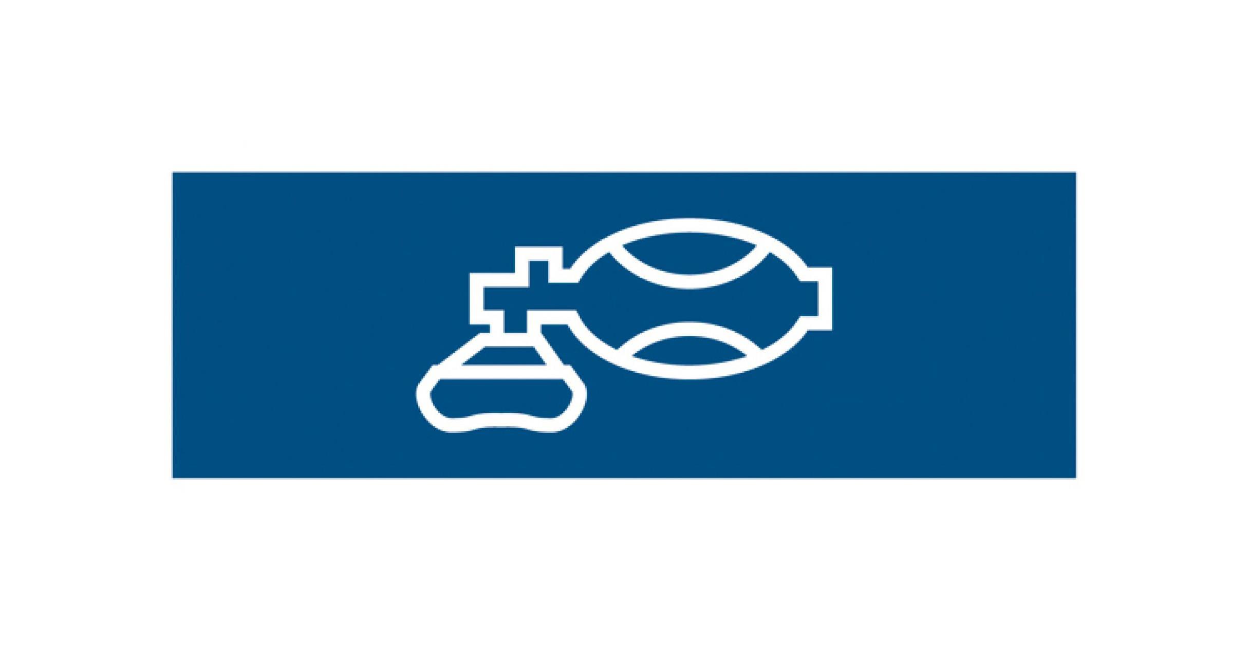 Normsymbol: Beatmung 109 x 37 mm