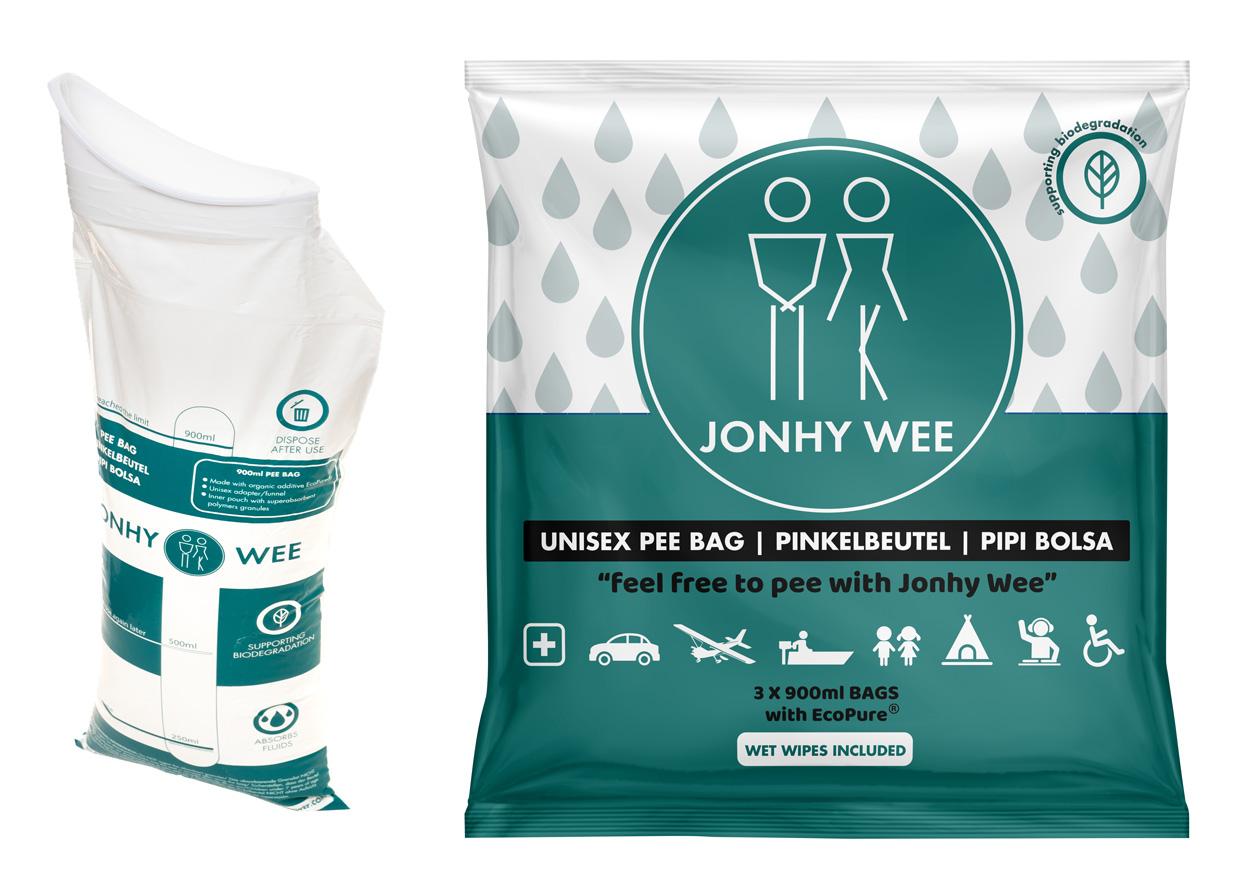 Jonhy Wee Unisex Pinkelbeutel, 900ml