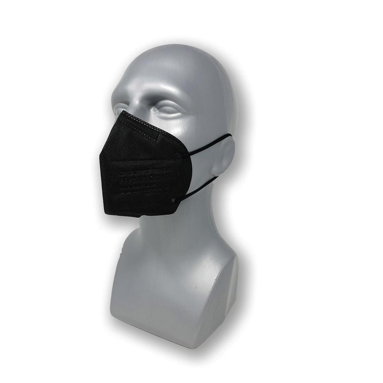 FFP2 Atemschutzmaske YYC1028 in schwarz, Packung à 25 Stk.