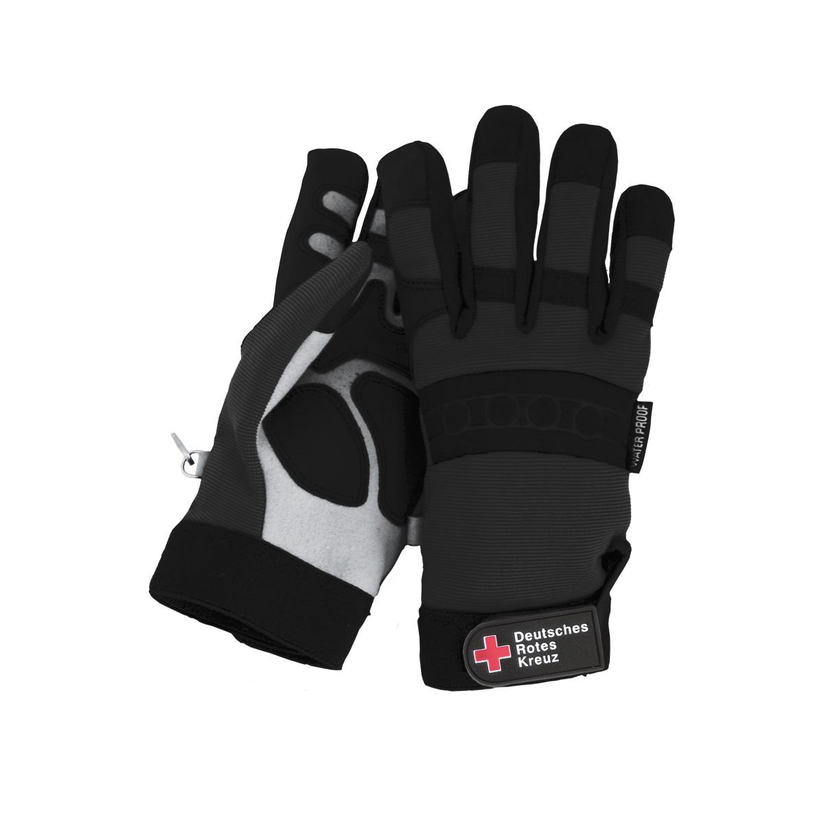 DRK-Einsatzhandschuhe in schwarz